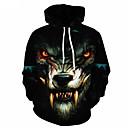 povoljno Muške majice s kapuljačom i trenirke-Muškarci Osnovni Slim hoodie jakna 3D S kapuljačom