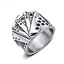 ieftine Inele-Bărbați Band Ring Inel 1 buc Argintiu Oțel Tungsten Geometric Shape Modă Zilnic Concediu Bijuterii Geometric Pocher Cool