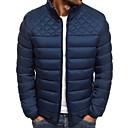 povoljno Men's Winter Coats-Muškarci Jednobojni Jakna od perja, Poliester Crn / Navy Plava / Red US32 / UK32 / EU40 / US36 / UK36 / EU44 / US40 / UK40 / EU48