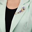 رخيصةأون قلادات-نسائي دبابيس قديم فراشة فني موضة بروش مجوهرات أحمر أزرق أرجواني أزرق من أجل مناسب للحفلات مهرجان