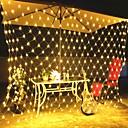 رخيصةأون الستائر-3 متر x 2 متر 200 المصابيح الرئيسية في عطلة عيد الميلاد عيد الميلاد الديكور الزفاف صافي شبكة سلسلة الجنية الستار أكاليل قطاع حزب ضوء