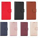 رخيصةأون LG أغطية / كفرات-غطاء من أجل LG LG K10 2018 حامل البطاقات غطاء كامل للجسم لون سادة جلد PU