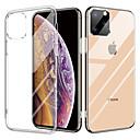 voordelige iPhone 7 Plus hoesjes-kristal transparant glazen hoesje voor iphone 11 / iphone 11 pro tpu dubbele helderglazen druppel beschermhoes voor iphone x / xr / xs max