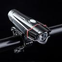 رخيصةأون اضواء الدراجة-LED اضواء الدراجة ضوء الدراجة الأمامي LED الدراجة ركوب الدراجة ضد الماء محمول المضادة للصدمة USB شحن الإخراج li-بوليمر 380 lm منفذ USB أبيض Everyday Use أخضر / IPX 6 / ABS
