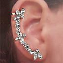 ieftine Cercei-Pentru femei Cătușe pentru urechi Cercei Stil Vintage Flower Shape Simplu Clasic Modă Cute Stil Elegant Diamante Artificiale cercei Bijuterii Argintiu Pentru Cadou Zilnic Stradă Concediu Festival 1