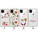 رخيصةأون أغطية أيفون-غطاء من أجل Apple اي فون 11 / iPhone 11 Pro / iPhone 11 Pro Max شفاف / نموذج غطاء خلفي عيد الميلاد TPU