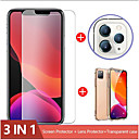 رخيصةأون أغطية أيفون-3-in-1 case camera glass for iphone 11 pro max screen protector iphone xr lens glass on iphone 11 pro max glass واقية
