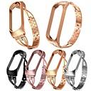 voordelige Horlogebandjes voor Xiaomi-xiaomi mi-band 4 luxe vervangende slimme horlogeband polsband roestvrij stalen armband armbanden mi-band 3/4 band metalen behuizing