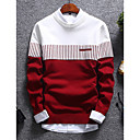povoljno Muški džemperi i kardigani-Muškarci Color block Dugih rukava Pullover Džemper od džempera, Okrugli izrez Obala / Plava / Red US32 / UK32 / EU40 / US34 / UK34 / EU42