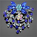 ieftine Broșe-Pentru femei Zirconiu Cubic Broșe Geometric Costume Moș Stilat Broșă Bijuterii Albastru Pentru Crăciun Zilnic