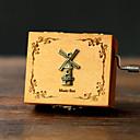 povoljno Šminka i njega noktiju-Igračke auti Glazba Box Vjetrenjača Vjetrenjača Fonograf Vintage Retro slatko Retro Kreativan Hangzás Poklon Dječaci Djevojčice Poklon