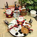 ieftine Brățări-6 buc bucătărie tacâmuri de buzunar furculi tacamuri Mos Craciun masa de cină decorare acasă