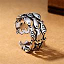 povoljno Prstenje-Muškarci Otvori Prsten Prilagodljivi prsten 1pc Srebro Kamen Glina Geometric Shape Vintage Moda Dnevno Ulica Jewelry Vintage Style Ribe dragocjen Cool