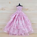 رخيصةأون أساور-دمية اللباس الفساتين إلى Barbie الأزهار النباتية دانتيل قماش ملابس القطن الأورجانزا فستان إلى لفتاة دمية لعبة