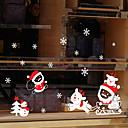 ieftine Tratamente de Fereastră-Fereastră de film și autocolante Decor Animal / Crăciun Geometric / Vacanță / Caracter PVC Autocolant Geam / Amuzant