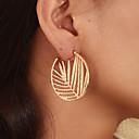 cheap Earrings-Women's Hoop Earrings Earrings Classic Leaf Simple Vintage Trendy Ethnic Fashion Earrings Jewelry Gold For Gift Daily Street Club Festival 1 Pair