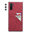 Недорогие Чехлы и кейсы для Galaxy Note 8-Кейс для Назначение SSamsung Galaxy Galaxy Note 10 / Galaxy Note 10 Plus Бумажник для карт / Ультратонкий Кейс на заднюю панель Однотонный Кожа PU / ТПУ