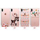 رخيصةأون أغطية أيفون-غطاء من أجل Apple اي فون 11 / iPhone 11 Pro / iPhone 11 Pro Max شبه شفّاف / نموذج غطاء خلفي عيد الميلاد TPU