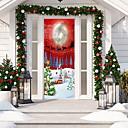 رخيصةأون ديكورات خشب-عيد الميلاد 3d الباب صائق ملصقا شجرة عيد الميلاد الباب خلفيات للإزالة الفينيل ملصقات للداخلية في عطلة عيد الميلاد حزب عطلة الباب الديكور