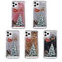 voordelige iPhone-hoesjes-hoesje Voor Apple iPhone 11 / iPhone 11 Pro / iPhone 11 Pro Max Stromende vloeistof / Patroon / Glitterglans Achterkant Kerstmis TPU