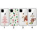 voordelige iPhone 5 hoesjes-hoesje Voor Apple iPhone 11 / iPhone 11 Pro / iPhone 11 Pro Max Transparant / Patroon Achterkant Kerstmis TPU