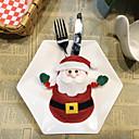 お買い得  ホームデコレーション-クリスマスデコレーションテーブルカトラリーセットクリエイティブ漫画ホテルカトラリーセットサンタカトラリーバッグ1ピース