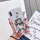 رخيصةأون أغطية أيفون-غطاء من أجل Apple iPhone XS / iPhone XR / iPhone XS Max ضد الصدمات / نحيف جداً / شبه شفّاف غطاء خلفي جملة / كلمة / كارتون TPU