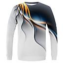 povoljno Muške košulje-Veličina EU / SAD Majica s rukavima Muškarci - Ulični šik / pretjeran Dnevno / Praznik Color block / Jednobojni Okrugli izrez Obala / Dugih rukava