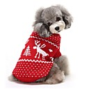 رخيصةأون ملابس وإكسسوارات الكلاب-كلاب البلوزات الشتاء ملابس الكلاب أحمر أزرق كوستيوم فصيل كورجي كلب صيد شبعا اينو الاكريليك وألياف الرنة كاجوال / يومي عيد الميلاد XS S M L XL XXL
