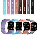 voordelige iPhone 5 hoesjes-nylon canvas horlogeband voor fitbit versa 2 / versa lite vervangbare armband polsband polsband