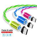 ieftine USB-uri-1m cablu de încărcare magnetică a telefonului mobil USB usb luminoase date de iluminat pentru iphone samaung huawei led