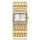 povoljno Naušnice-vruće ženske kvarcni sat od nehrđajućeg čelika kristalni kristalni analogni ručni sat relogio masculino uhren relojes goldenblack bijelo zlato imitacija dijamant 30 m 1 pc analog dvije godine baterije