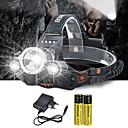 povoljno Šminka i njega noktiju-Svjetiljke za glavu Svjetlo za bicikle 10000 lm LED emiteri 4.0 rasvjeta mode s baterijama i punjačem Anglehead Pogodno za vozila Super Light Kampiranje / planinarenje / Speleologija Biciklizam Lov