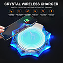 povoljno Bežični punjači-kristalni bežični punjač mobilni telefon bežični prijemnik baterija za punjenje univerzalna baza za punjenje za Apple ios android