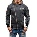 povoljno Men's Winter Coats-Muškarci Veći konfekcijski brojevi Sport Ležerne prilike Slim Hoodie Jednobojni S kapuljačom