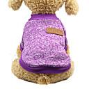 povoljno Odjeća za psa i dodaci-Mačka Pas Puloveri Zima Odjeća za psa purpurna boja žuta Plava Kostim bišon friz Šnaucer Pekinezer Pamuk Jednobojni Ležerno / za svaki dan Ugrijati Moda S M L XL XXL