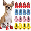رخيصةأون ملابس وإكسسوارات الكلاب-قط كلب أحذية و جزم للحيوانات الأليفة جلد PU أصفر / الصيف