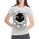 رخيصةأون تيشيرتات وتانك توب رجالي-نسائي أساسي / مبالغ فيه طباعة تيشرت, 3D / الرسم / حيوان قطة