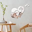 povoljno Ukrasne naljepnice-Dekorativne zidne naljepnice - Zidne naljepnice ogledala Hearts Spavaća soba