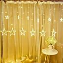 ieftine Becuri LED Plafon-1 buc 12 stele cu cinci colțuri a condus șir de lumini înstelate perdea de cascada lumini cascadă lanternă ghirlandă decorativă 8 moduri flash