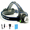 cheap Headlamps-Headlamps Headlight 5000 lm LED LED Emitters 1 Mode with Batteries and Chargers Portable Professional Wearproof Camping / Hiking / Caving Cycling / Bike Hunting United Kingdom AU EU USA Blue