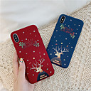voordelige iPhone 7 hoesjes-hoesje Voor Apple iPhone 11 / iPhone 11 Pro / iPhone 11 Pro Max Stofbestendig / IMD / Ultradun Achterkant Cartoon / Kerstmis TPU