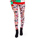 voordelige iPhone-hoesjes-Dames Kerstmis Slank Leggings Broek - Print Print Rood S M L