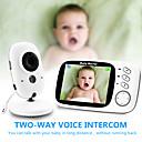 ieftine Monitoare Bebeluși-digital 3mp cmos wireless 6mm lentilă viziune de noapte monitor bebeluș în două sensuri interfon ip camera de afișare a temperaturii lullaby modul de economisire a energiei camera de securitate acasă