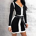 رخيصةأون ساعات الكوارتز-فستان نسائي ثوب ضيق أنيق قصير جداً ألوان متناوبة