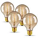 ieftine Becuri Incandescente-4 buc 40 W E26 / E27 G80 Alb Cald 2300 k Retro / Intensitate Luminoasă Reglabilă / Decorativ Incandescent Vintage Edison bec 220-240 V