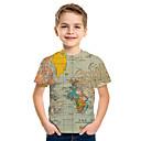 povoljno Odjeća za psa i dodaci-Djeca Dječaci Osnovni Print 3D Kratkih rukava Majica s kratkim rukavima Sive boje