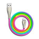 رخيصةأون أبل-USB مصغر / البرق / نوع C كابل 1.0M (3FT) جديلي / سرعة عالية / مطلية بالذهب سبائك الزنك / نايلون محول كابل أوسب من أجل iPad / Samsung / Huawei