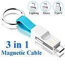 povoljno Šminka i njega noktiju-Micro USB / Rasvjeta / Tip-C Kabel All-in-1 / 1 do 3 / Brzo punjenje PVC USB kabelski adapter Za Samsung / Huawei / Lenovo