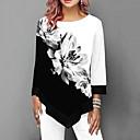 ieftine Cercei-Pentru femei Tricou Floral Negru